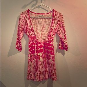 Red and White Tunic